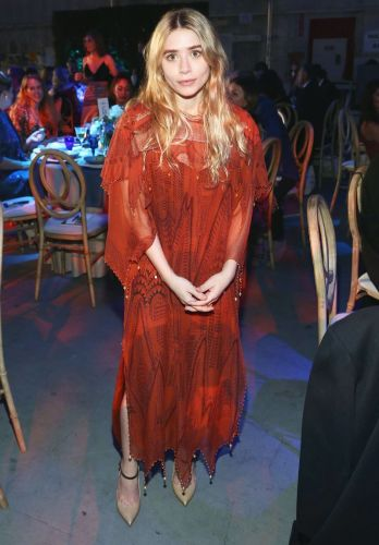Ashley Olsen Wore the Prettiest Sheer Dress to a Gala