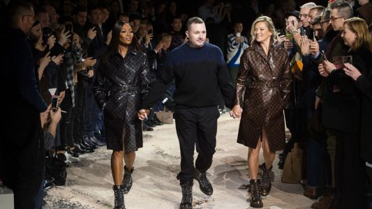 Kim Jones Takes a Bow at His Final Louis Vuitton Runway Show With Naomi Campbell and Kate Moss