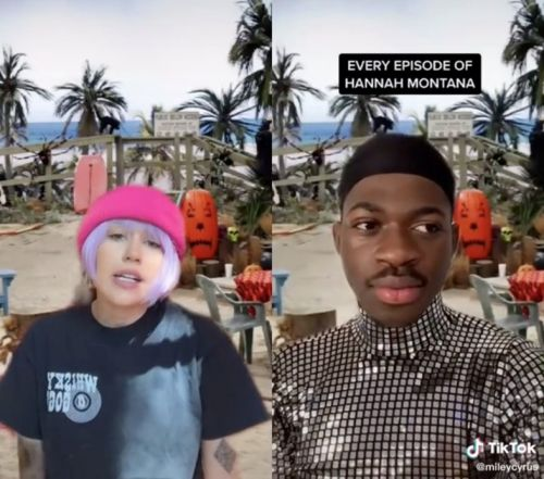 Watch Miley Cyrus and Lil Nas X parody Hannah Montana on TikTok