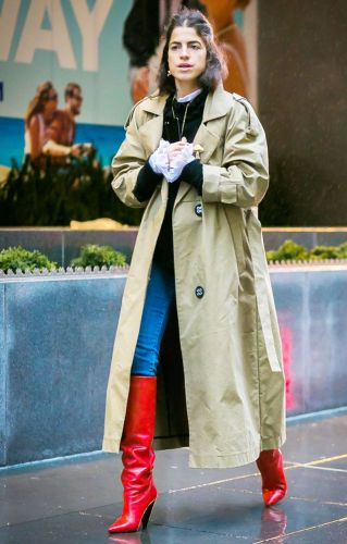 How to Wear Bright Colors in the Winter