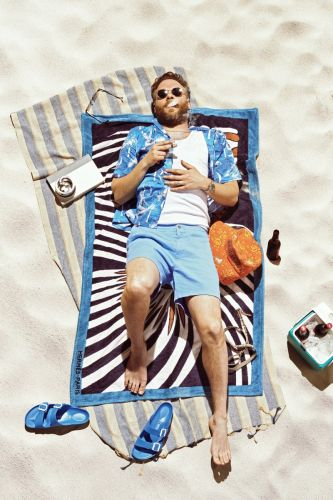 Seth Rogen Hits the Beach for GQ Cover Shoot
