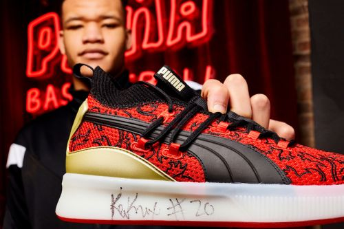 "NY Knick Kevin Knox Unveils PUMA's Clyde Court ""London Calling"""