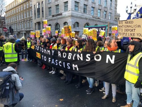 An estimated 15,000 have marched to counter a far right rally in London
