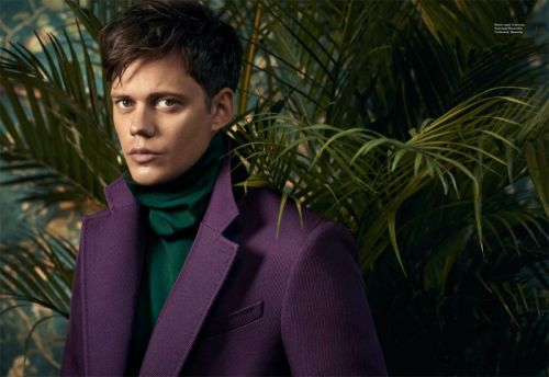 Bill Skarsgård Dons Bold Sartorial Fashions for Icon Australia