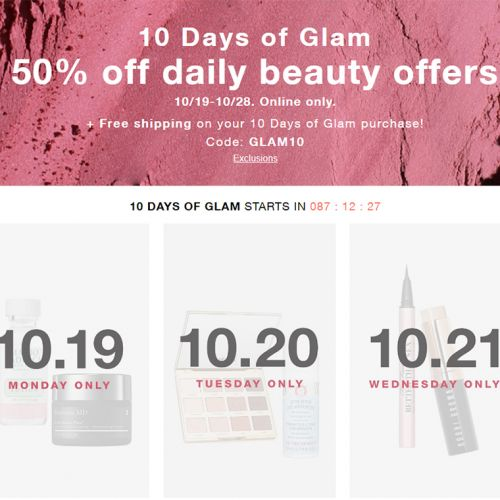 Macy's 10 Days of Glam: October 19th through October 28th