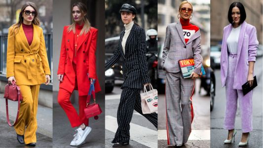 The Street Style Crowd Wore All Sorts of Suits on Day 2 of Milan Fashion Week