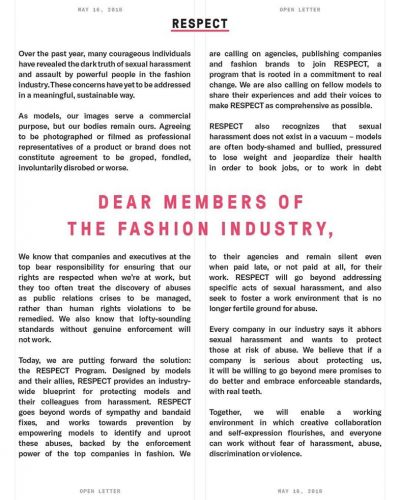 NY's Model Alliance outlines a new program to stop abuse in fashion