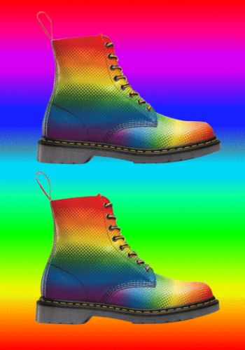 Hunger Wants: Dr. Martens Pride rainbow boots