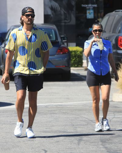 Scott Disick and Kourtney Kardashian Spotted Out Shopping Together Amid Kim and Kanye Drama