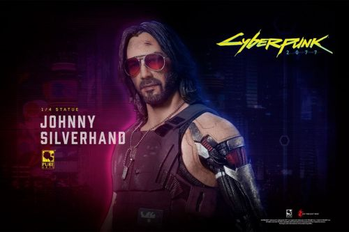 PureArts' 'Cyberpunk 2077' Johnny Silverhand Statue Comes With an LCD Screen and Speakers