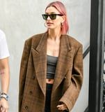 """Hailey Baldwin Just Said """"Bye-Bye Blond!"""" and Debuted a Cotton Candy Pink Hair Color"""