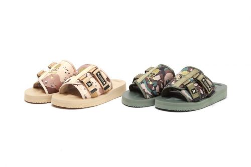 Mastermind JAPAN and Suicoke Prep KAW Sandal in Camouflage Tones