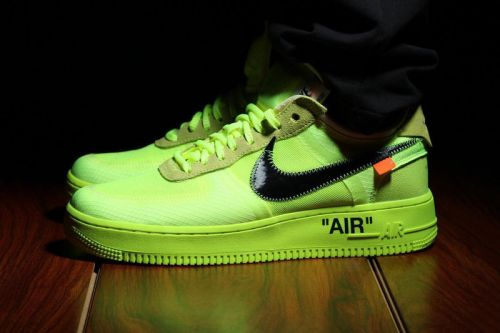 """Off-White™ x Nike Air Force 1 """"Volt"""" May Be Incoming"""