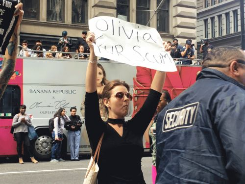 Anti-Fur Activists Attack Olivia Palermo's NYFW Event, Violence Ensues