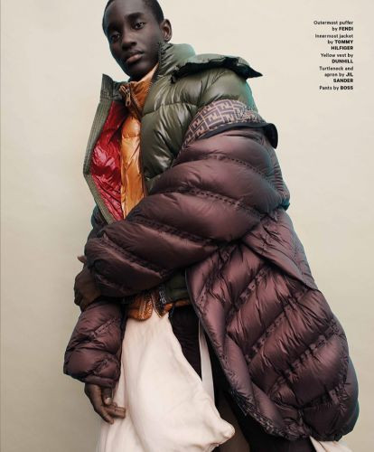 Charles Oduro is 'On a Cloud' in Puffers for Essential Homme