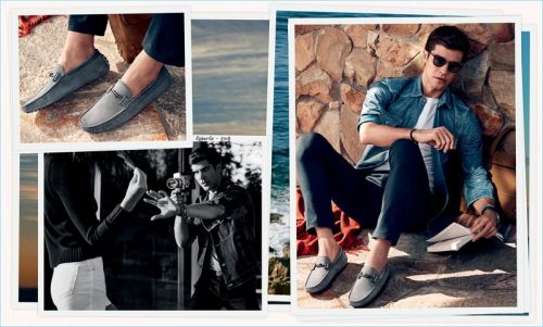 Roberto Bolle Takes to the Beach for Tod's Spring '18 Campaign