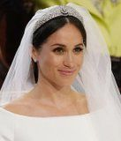 Meghan Markle Dazzles in a Side-Parted Chignon and Tiara For the Royal Wedding