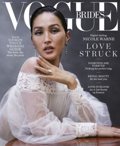 Nicole Warne wears Christian Dior on the cover of the 2018 issue