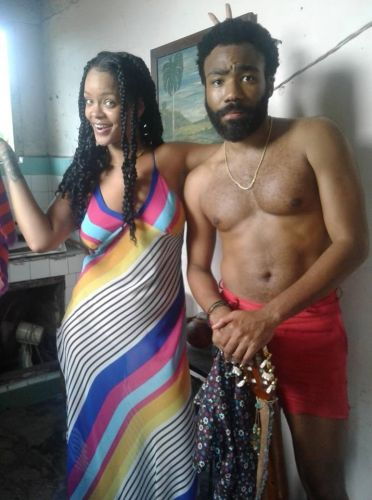 Rihanna and Donald Glover might be shooting a new movie in Cuba