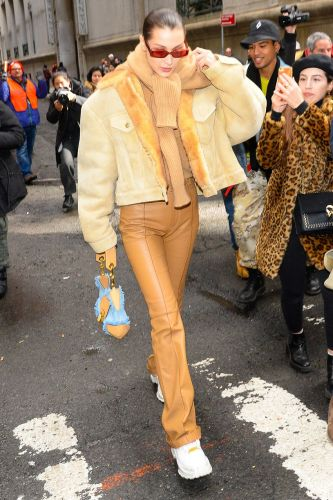 """Bella Hadid Is Endorsing the """"Bland"""" Trend That's Sweeping NYC"""