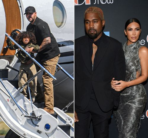 Saint West Spotted on Private Plane in Cody, Wyoming Amid Kim Kardashian and Kanye West's Drama