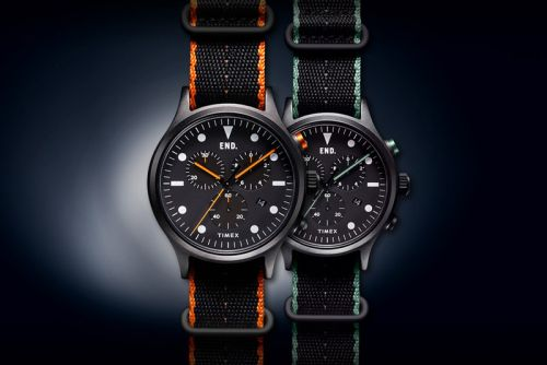The END. x Timex 'Blackout' Timepiece Project.02 Offers Military Models From the Archives