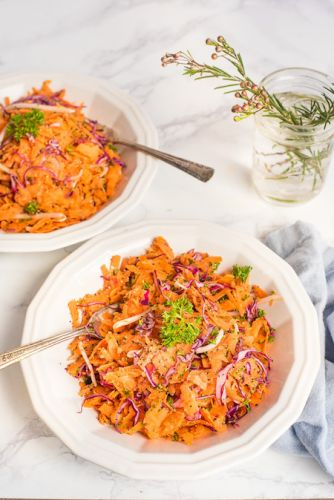 Skin Healing Shredded Carrot Salad Recipe