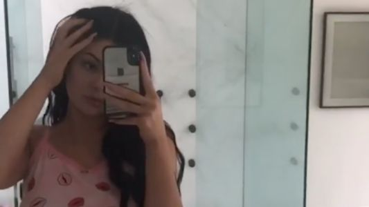 Kylie Jenner Shows Off Her Teeny Waist and Impossibly Flat Stomach in Adorable PJs