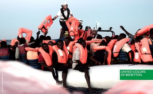 Benetton criticized for campaign depicting migrants being rescued