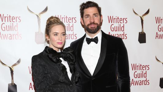 Emily Blunt and John Krasinski Are Everything in Matching Tuxes at the Writers Guild Awards