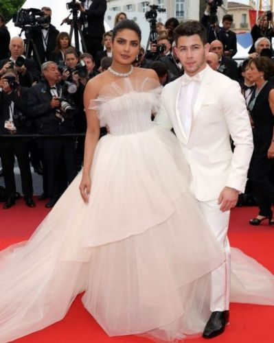 Newlywed couple Priyanka Chopra Jonas and Nick Jonas at the 72nd