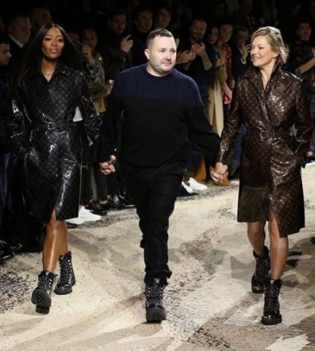 Kate Moss and Naomi Campbell reunite for Kim Jones' final Louis Vuitton show