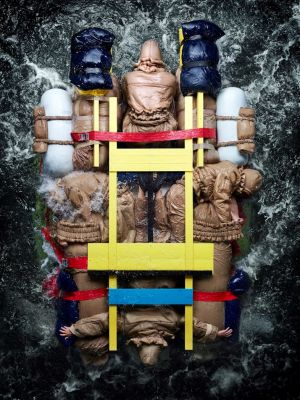 Craig Green creates giant human raft for latest campaign