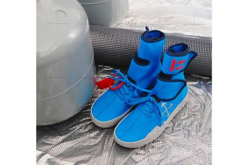 "Off-White™'s CST-100 ""Moto Wrap"" Sneaker Surfaces in Blue"