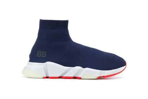 Balenciaga Unveils a Branded Speed Low in Blue