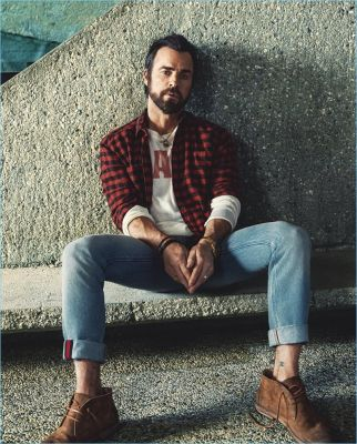 Justin Theroux Stars in Mr Porter Shoot, Talks Hollywood & Funny Women