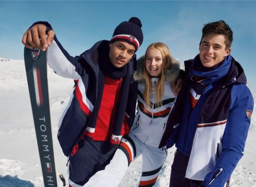 Pietro Boselli & Désiré Mia Embrace Winter Style for Tommy x Rossignol Campaign