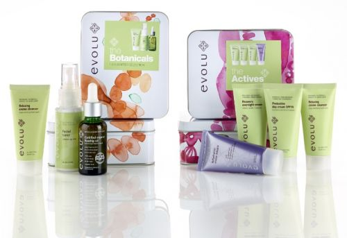 Evolu's all-natural skincare gift packs are beautiful inside and out