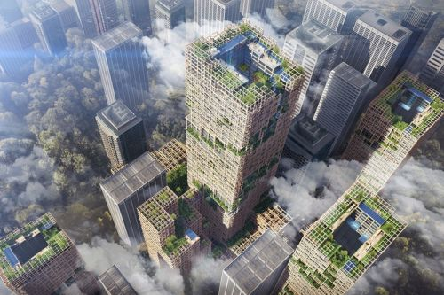 A 70-Story Sustainable Wooden Skyscraper Could Be Coming to Tokyo
