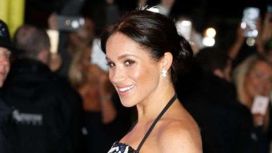 Meghan Markle Wore a Thing: Safiyaa Gown at Royal Variety Edition