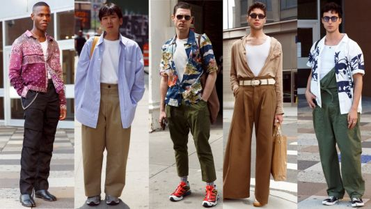 White Tanks and Undershirts Were a Street Style Favorite at New York Fashion Week: Men's