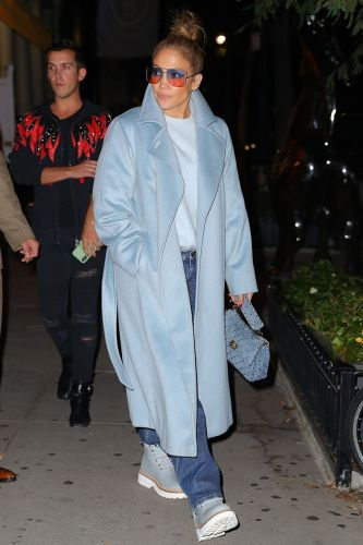 J.Lo Made Baggy Jeans and a Sweater Look Expensive With This Wardrobe Staple
