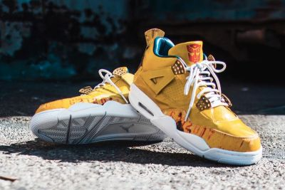 The Shoe Surgeon Unveils a 'Transformers' Air Jordan 4 Custom For Mark Wahlberg