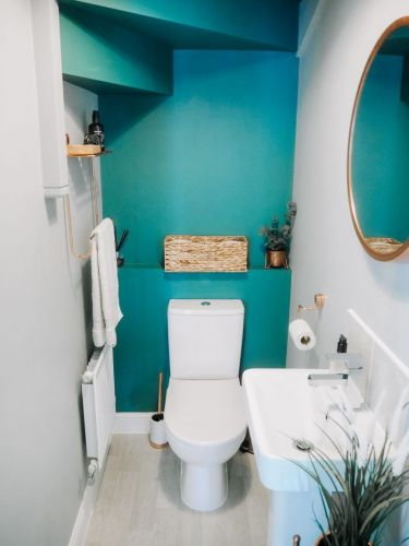 My Downstairs Bathroom Makeover: Style On A Budget