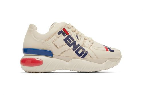 """Fendi x FILA's """"Mania"""" Collection Drops Chunky Sneaker With Large Logos"""