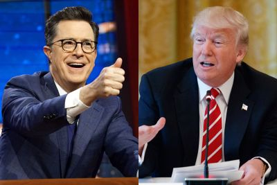 Colbert taunts Trump from Russia