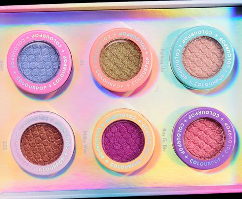 ColourPop Holiday 2018: Jelly Much Eyeshadows, Super Shock Shadows, Glitterally Obsessed Body Glitters Swatches