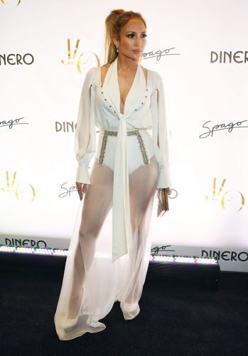 J.Lo Wore Naked Pants on the Red Carpet Like It's No Big Deal