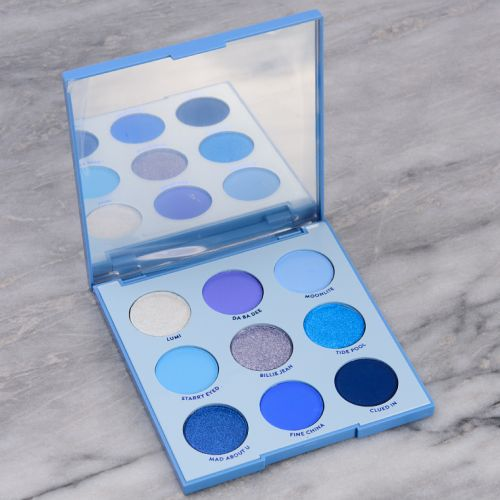 ColourPop Blue Moon Eyeshadow Palette Swatches