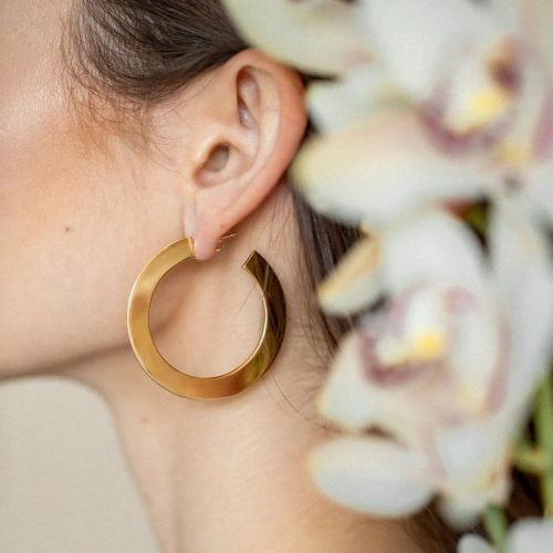Gold Hoop Earrings You'll Never Want To Take Off